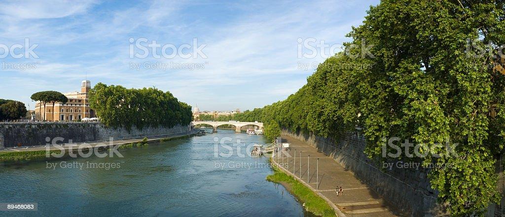 River Tiber and Palazzo di Giustizia, Rome stock photo