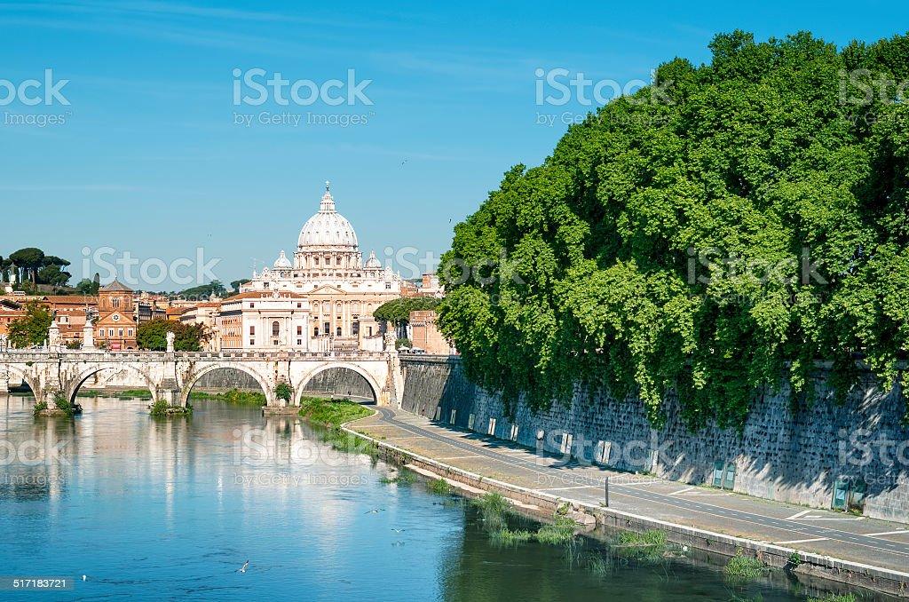 River Tiber, Rome - Italy stock photo