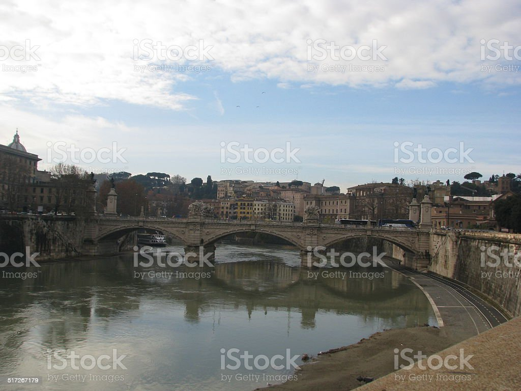 River Tiber, Rome stock photo