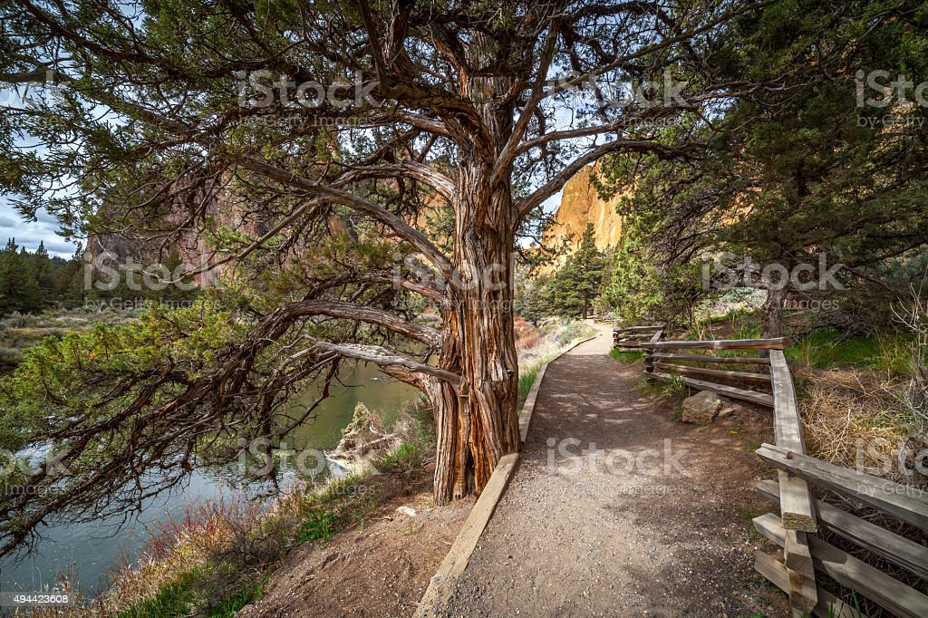 River Trail Around Smith Rock stock photo
