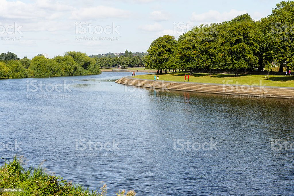 River Trent at Victoria Embankment. stock photo