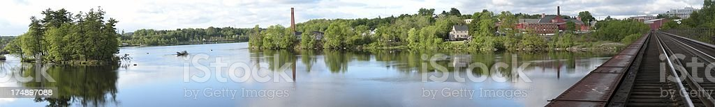 River Tressel Pano stock photo