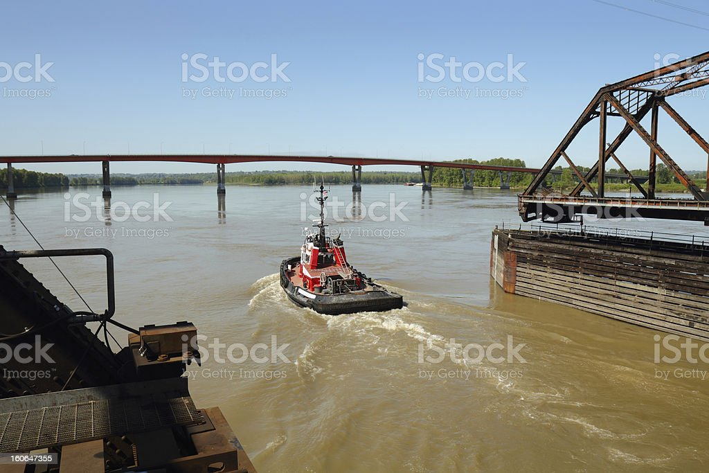 River Tug stock photo