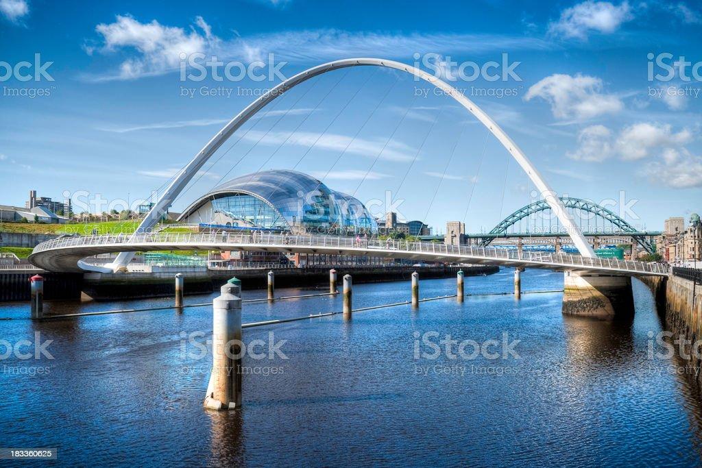 River Tyne, HDR image, Newcastle, UK stock photo