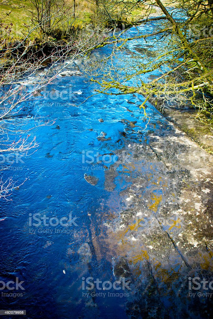River Tyne in Cumbria stock photo