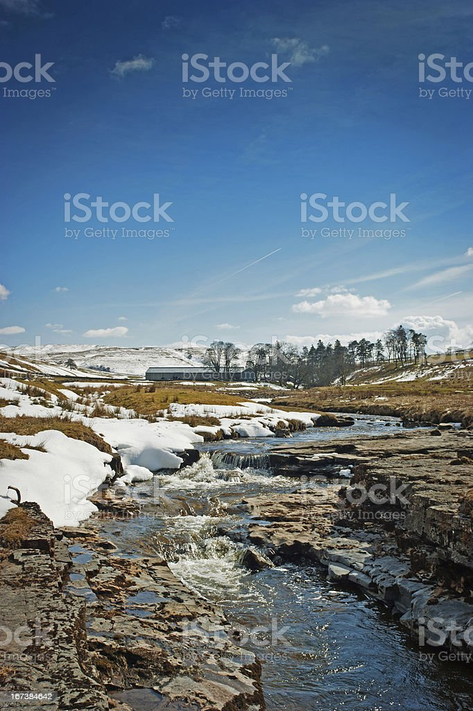River Tyne near its source stock photo