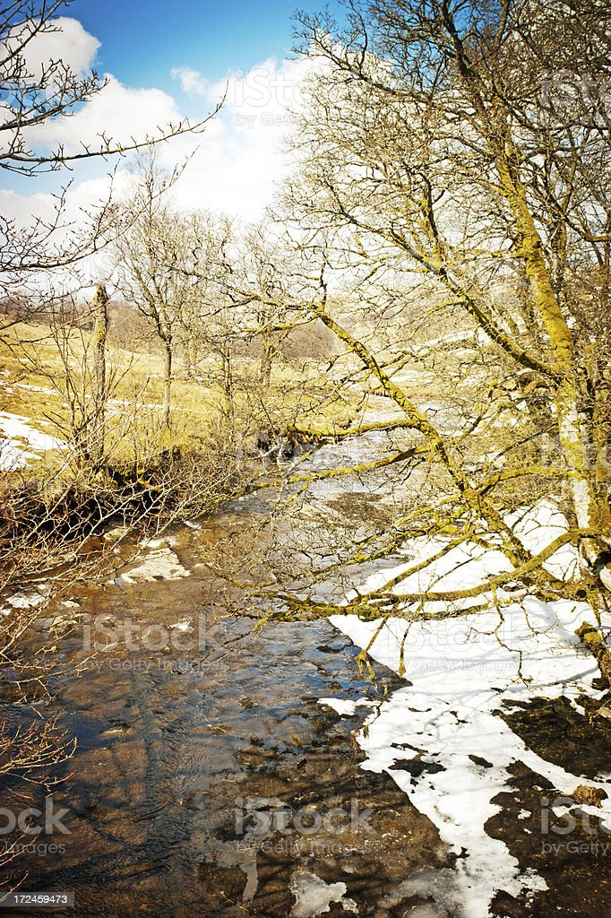 River Tyne near its source royalty-free stock photo