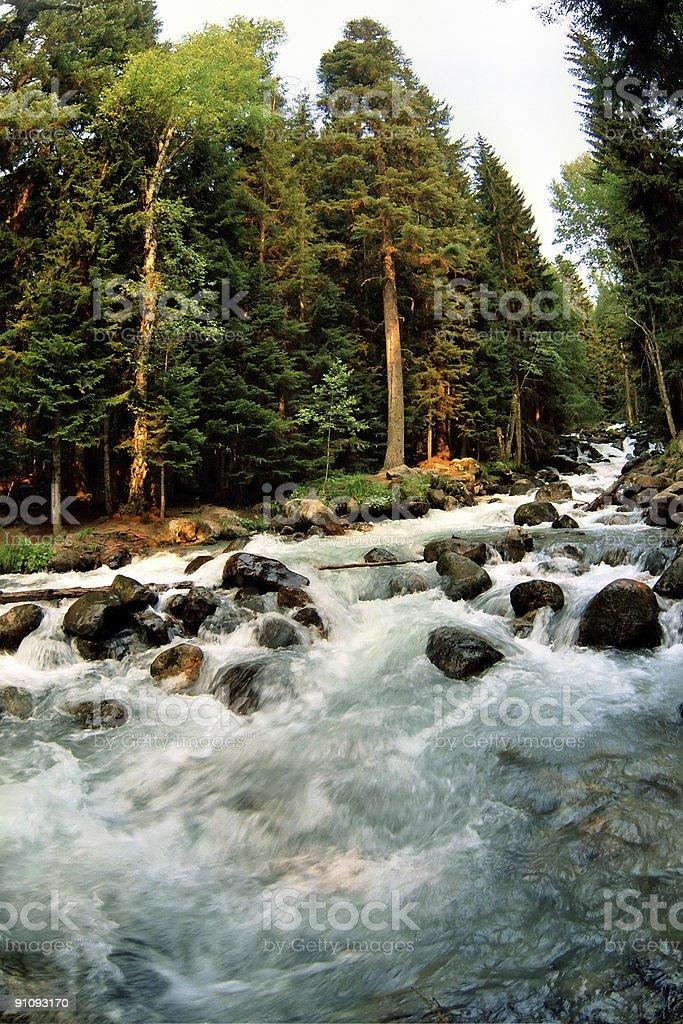 River  Ullu-Murudgu. Dombai. royalty-free stock photo