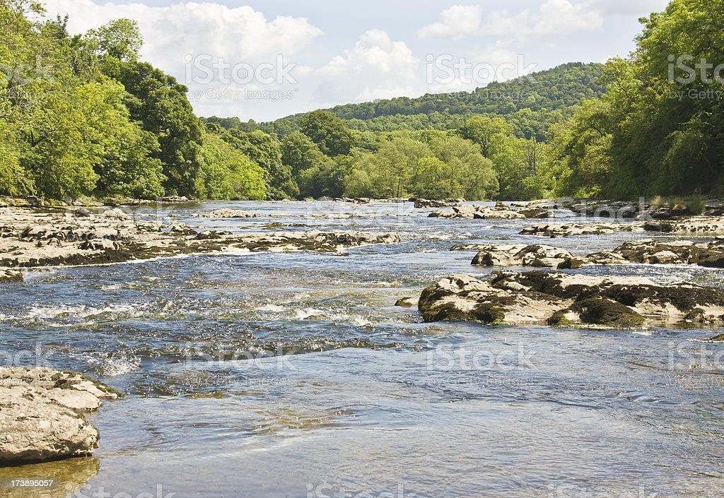 River Ure at Aysgarth stock photo