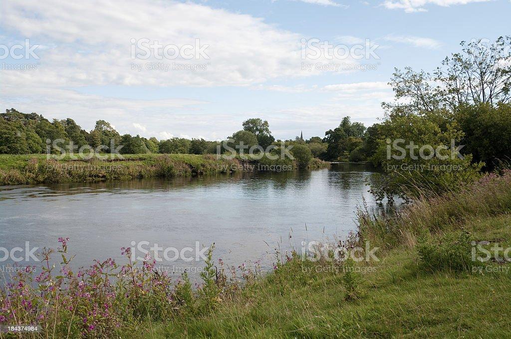 River Ure at Masham near Ripon in Wensleydale North Yorkshire stock photo