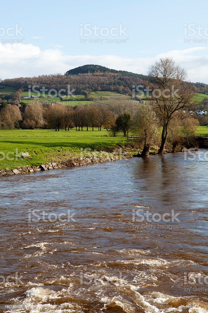 River Usk Abergavenny stock photo