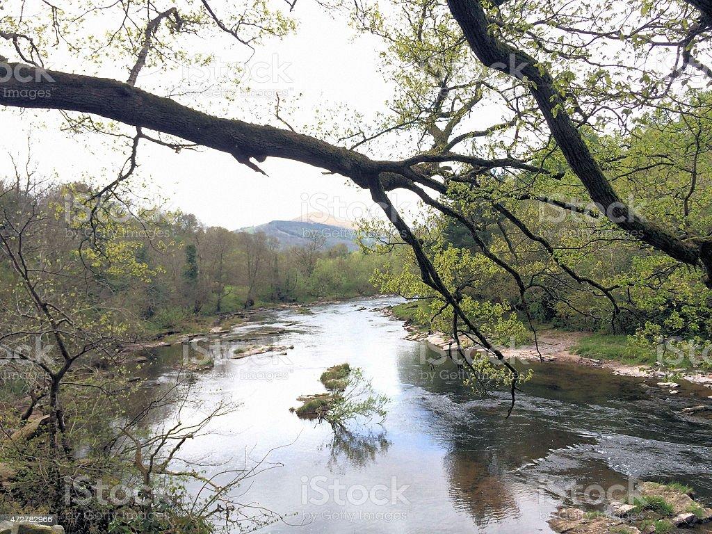 River Usk stock photo