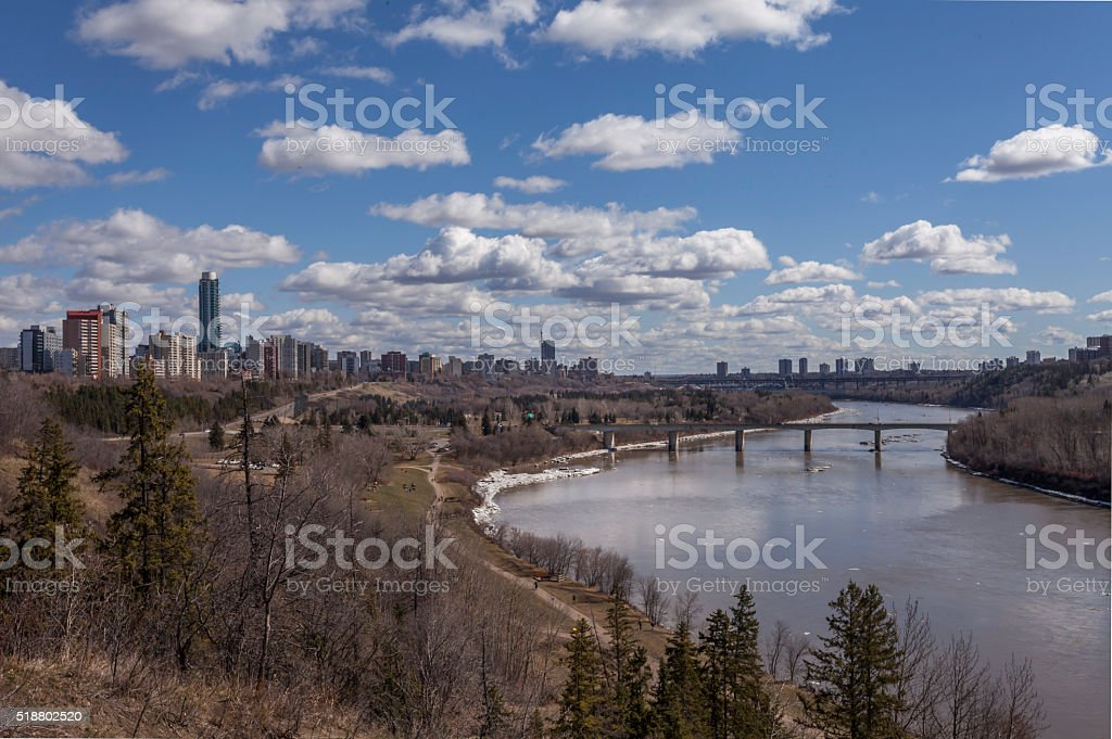 River Valley Edmonton stock photo
