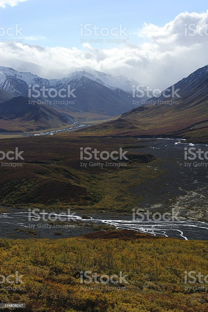 River Valley in Denali royalty-free stock photo
