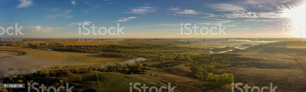 River Valley Sunrise stock photo