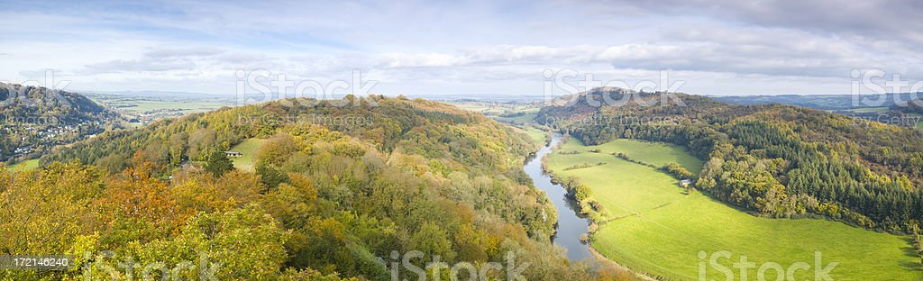 River valley vista royalty-free stock photo