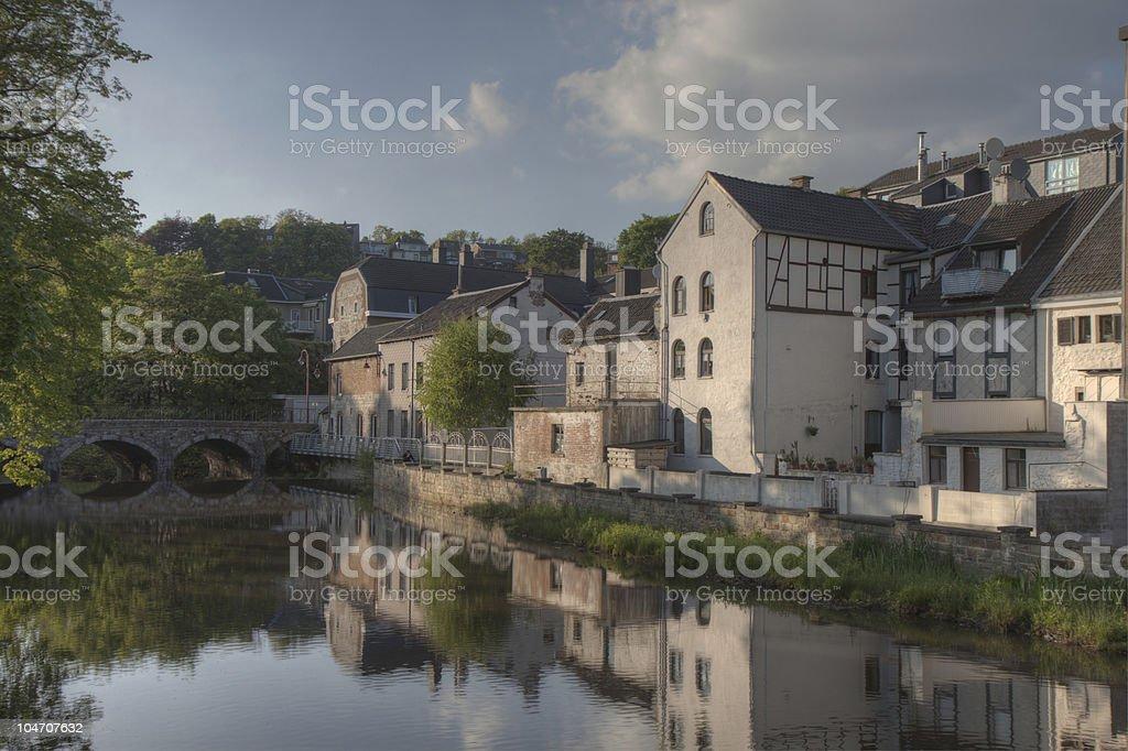 River Vesdre in Eupen stock photo