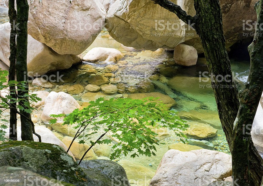 river view at Seoraksan National Park, South korea royalty-free stock photo