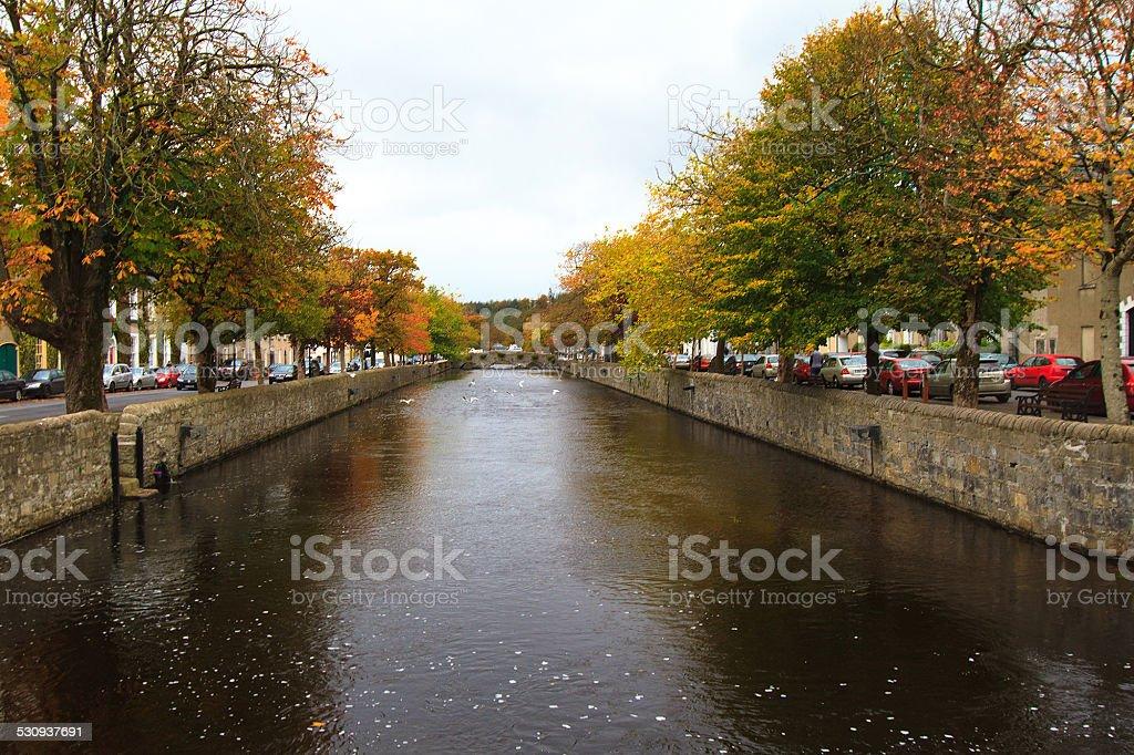 River View of Westport, Ireland stock photo