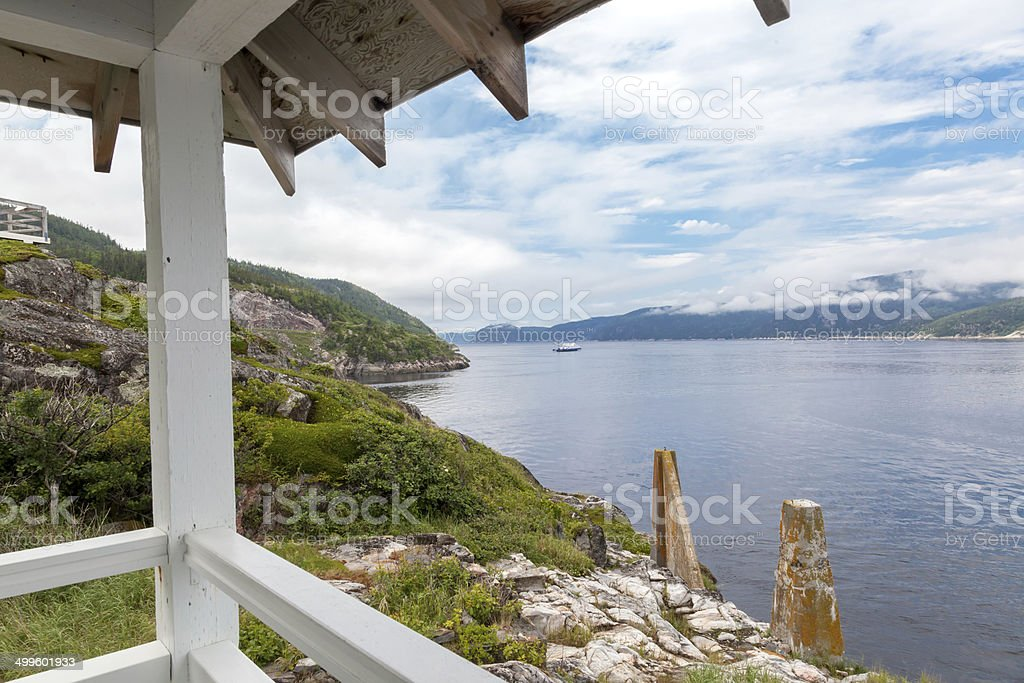 River viewed from an observation point, Saint Lawrence River, Qu stock photo