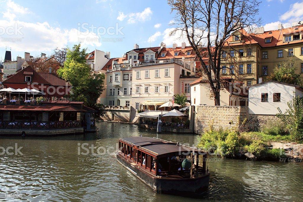 River Vltava in Prague royalty-free stock photo
