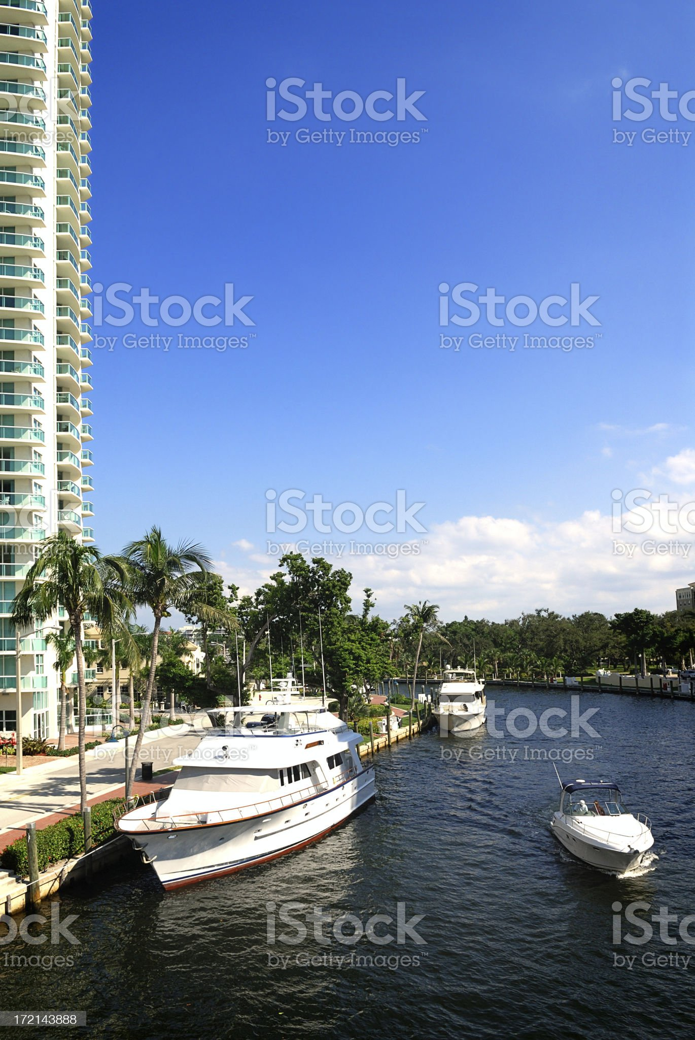 river walk canal in Fort Lauderdale royalty-free stock photo