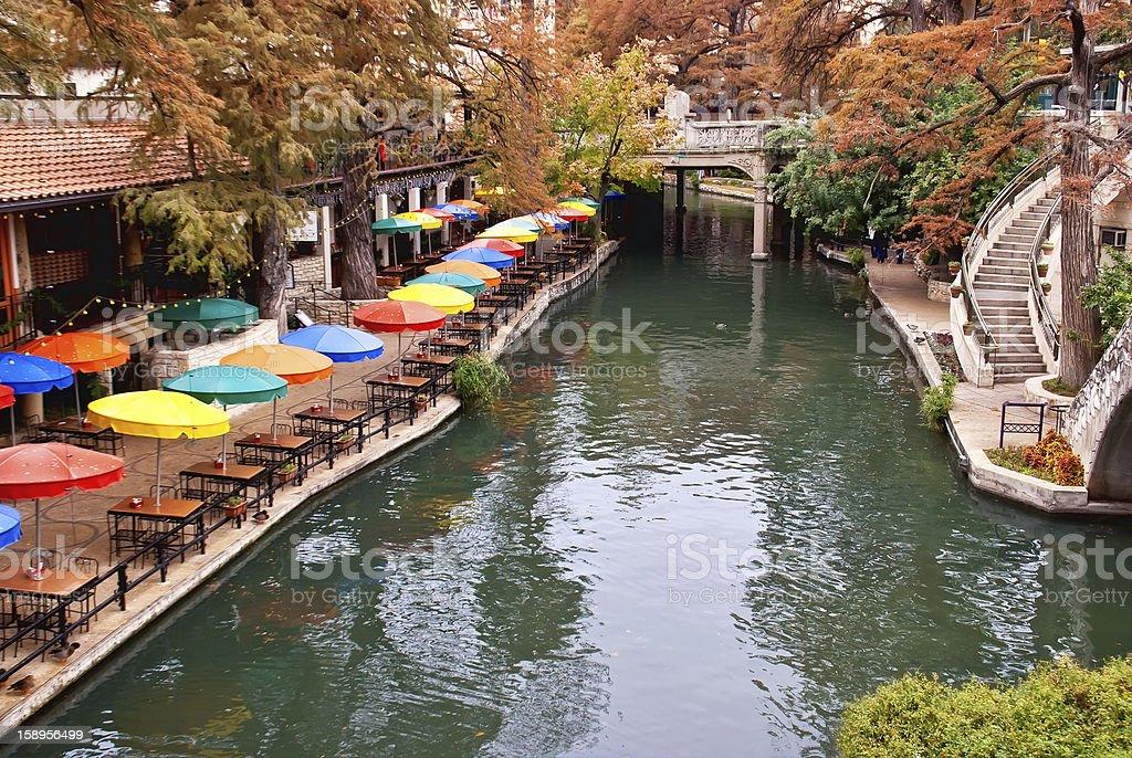 River Walk in San Antonio Texas royalty-free stock photo