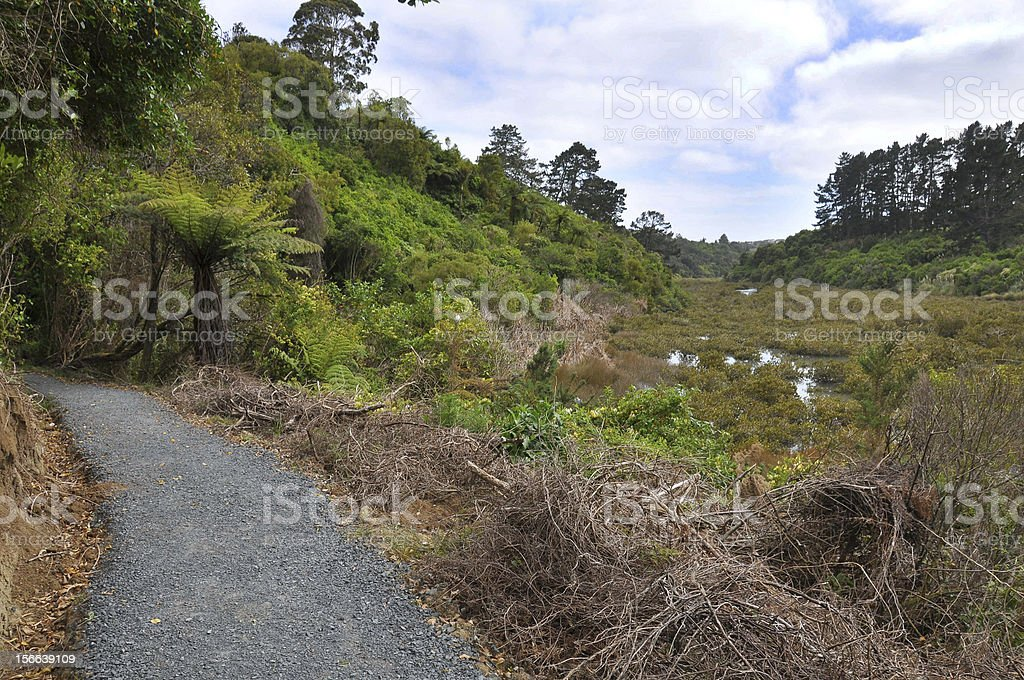 River walkway. royalty-free stock photo