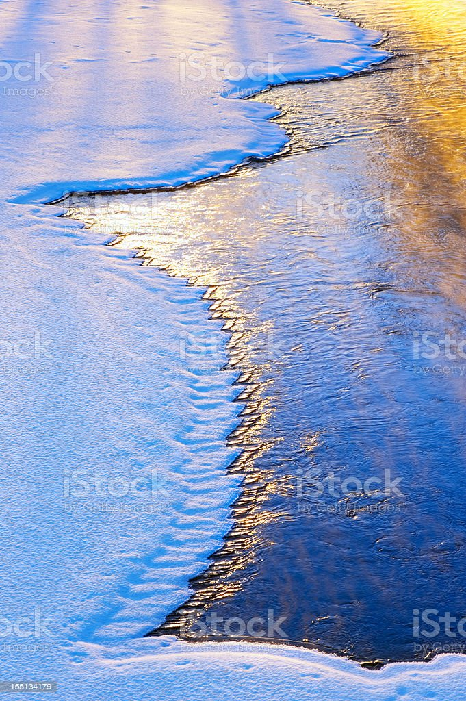 River water freezing royalty-free stock photo