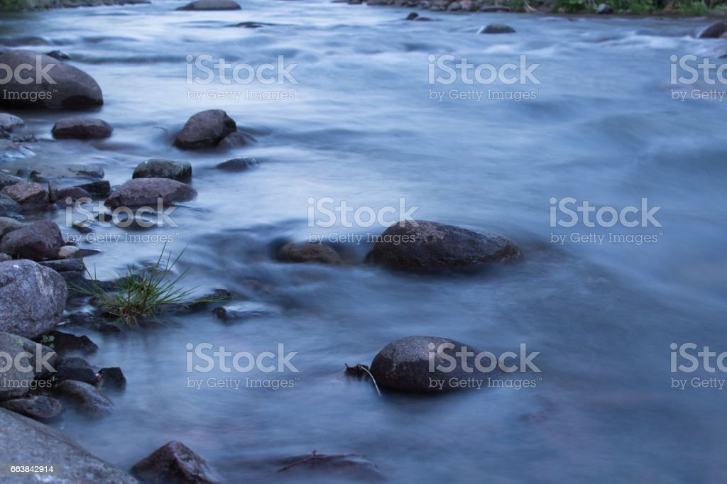 River water, long exposure stock photo