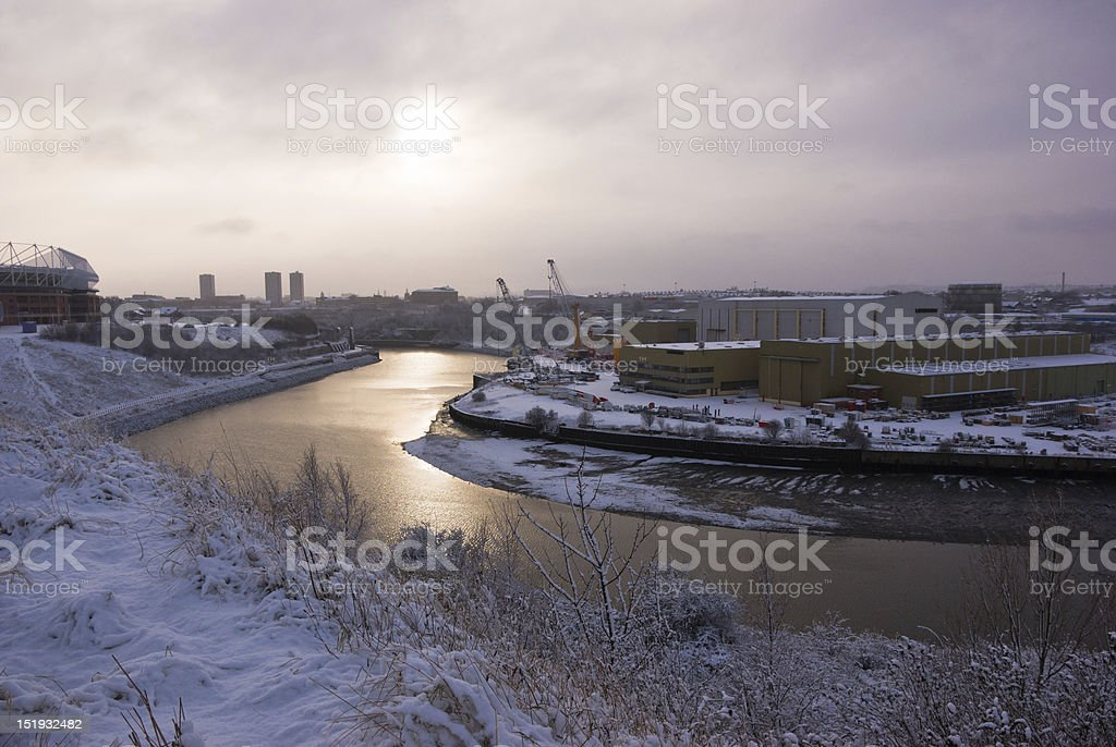 River Wear and Sunderland stock photo