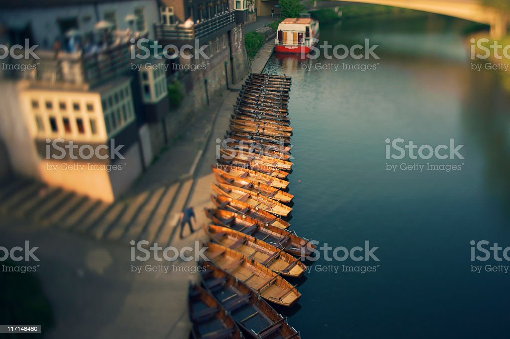 River Wear boats, Durham - English landmark stock photo