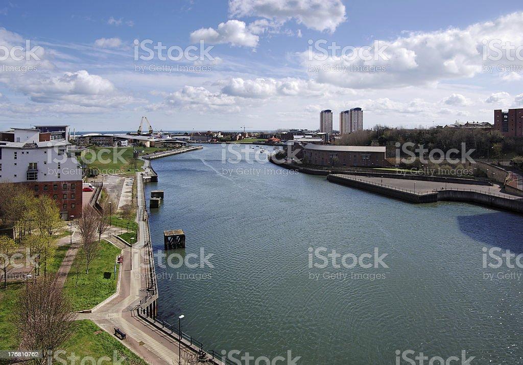 River Wear in Sunderland stock photo