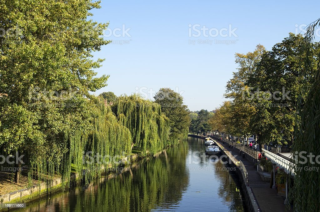 River Wensum and Riverside, Norwich stock photo