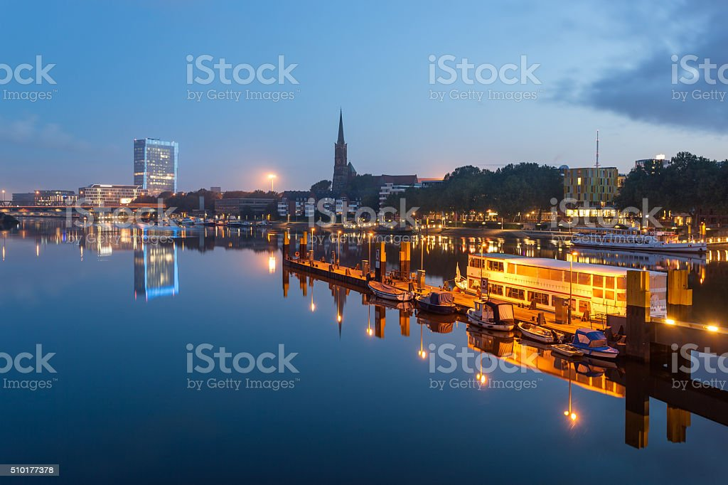 River Weser, Bremen, Germany stock photo