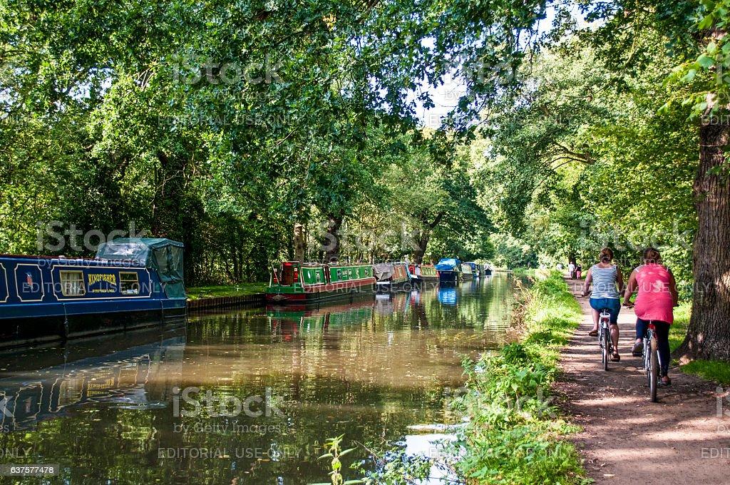 River Wey Navigation, Surrey, England, United Kingdom stock photo