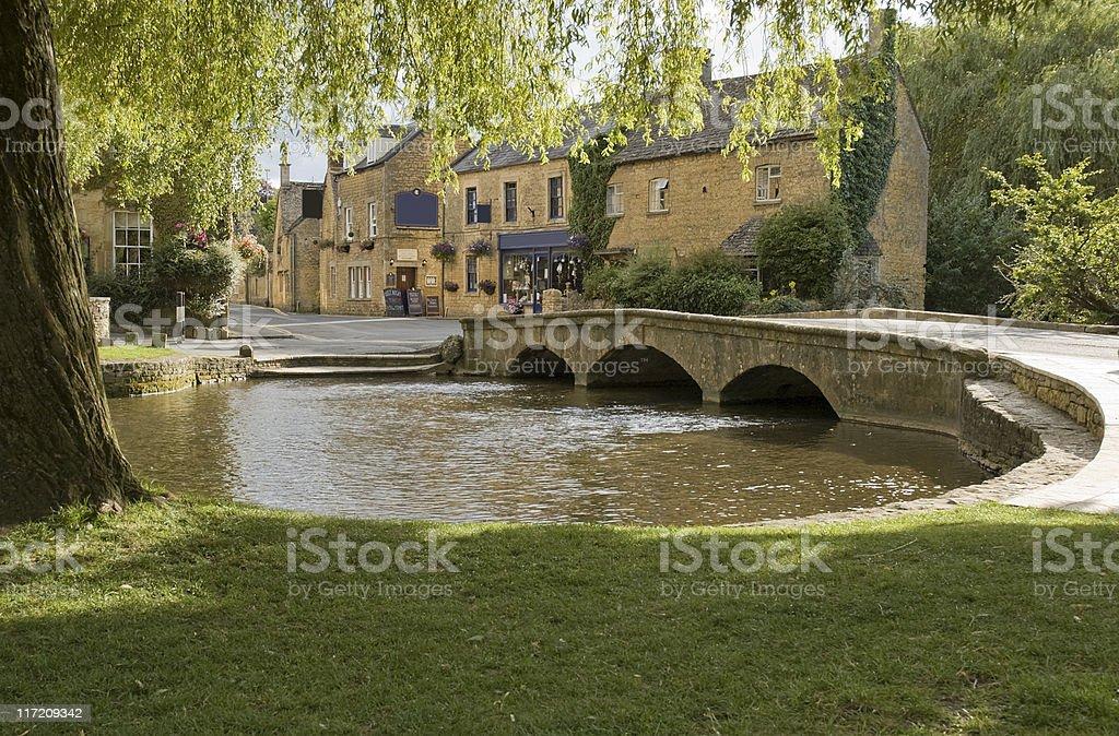 River windrush cotswolds uk royalty-free stock photo