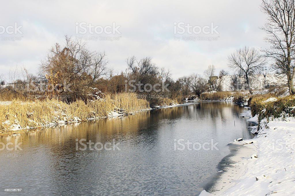 River winter winter landscape royalty-free stock photo