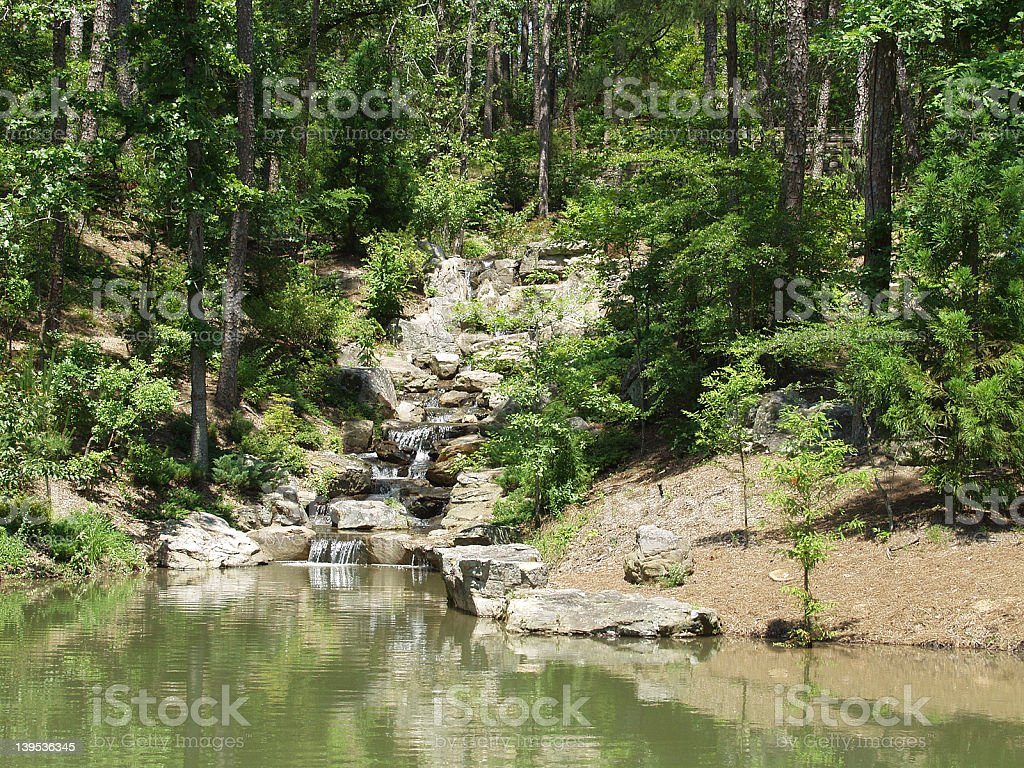 River with Falls and Foliage royalty-free stock photo