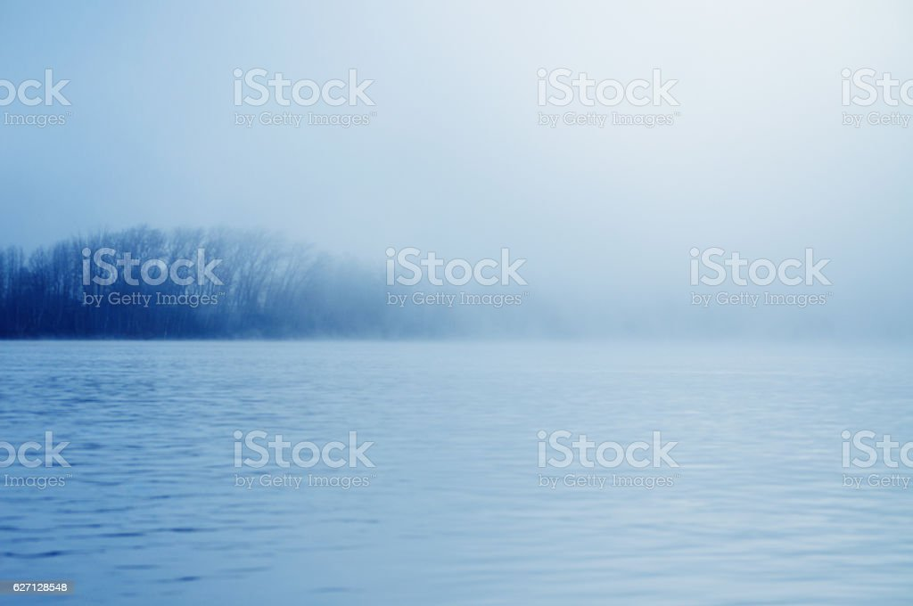 River with Fog stock photo