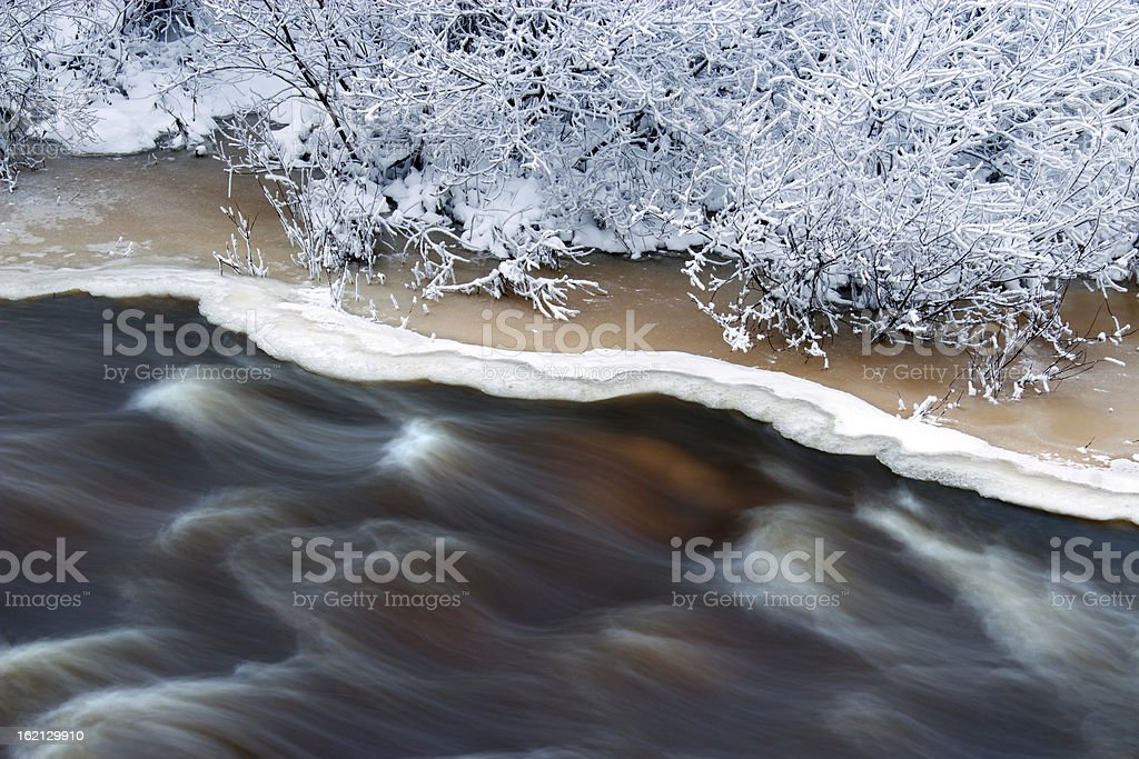 River with ice royalty-free stock photo