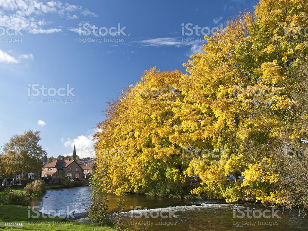 River Wye at Bakewell stock photo