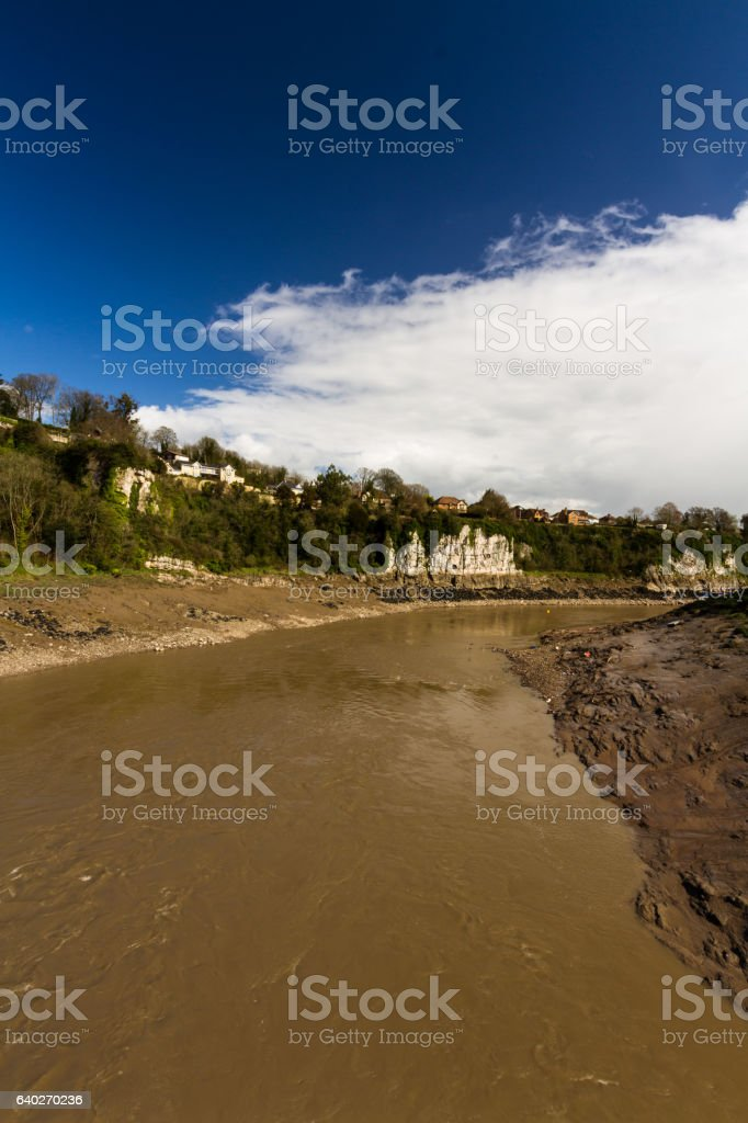 River Wye at Chepstow stock photo