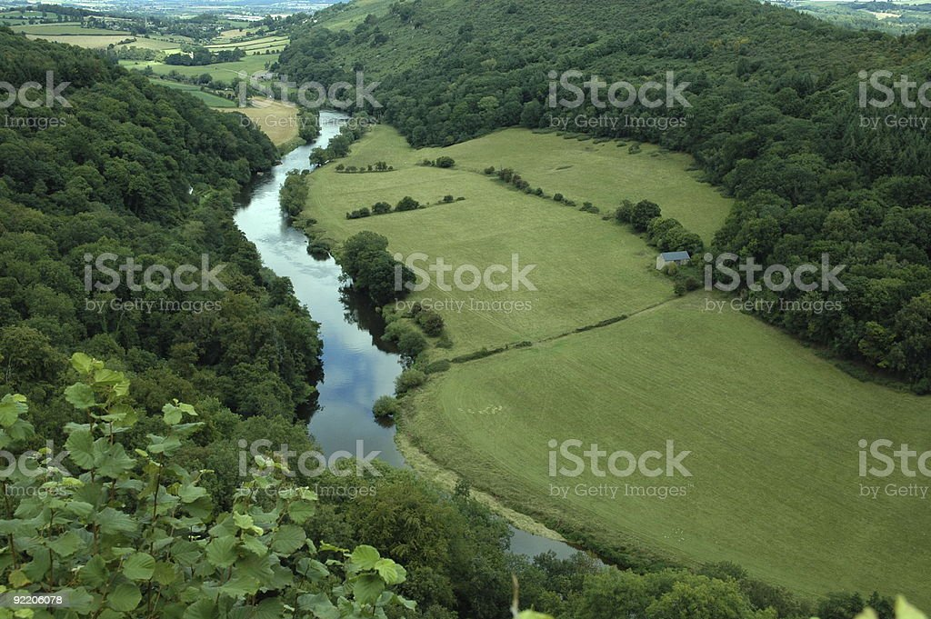 River Wye from Yat Rock stock photo