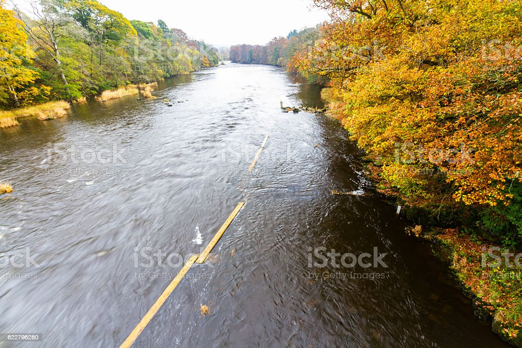 River Wye in Autumn stock photo