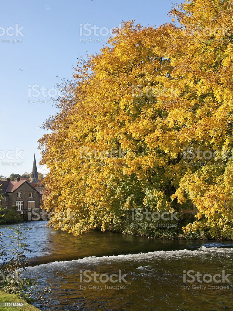 River Wye in Bakewell stock photo