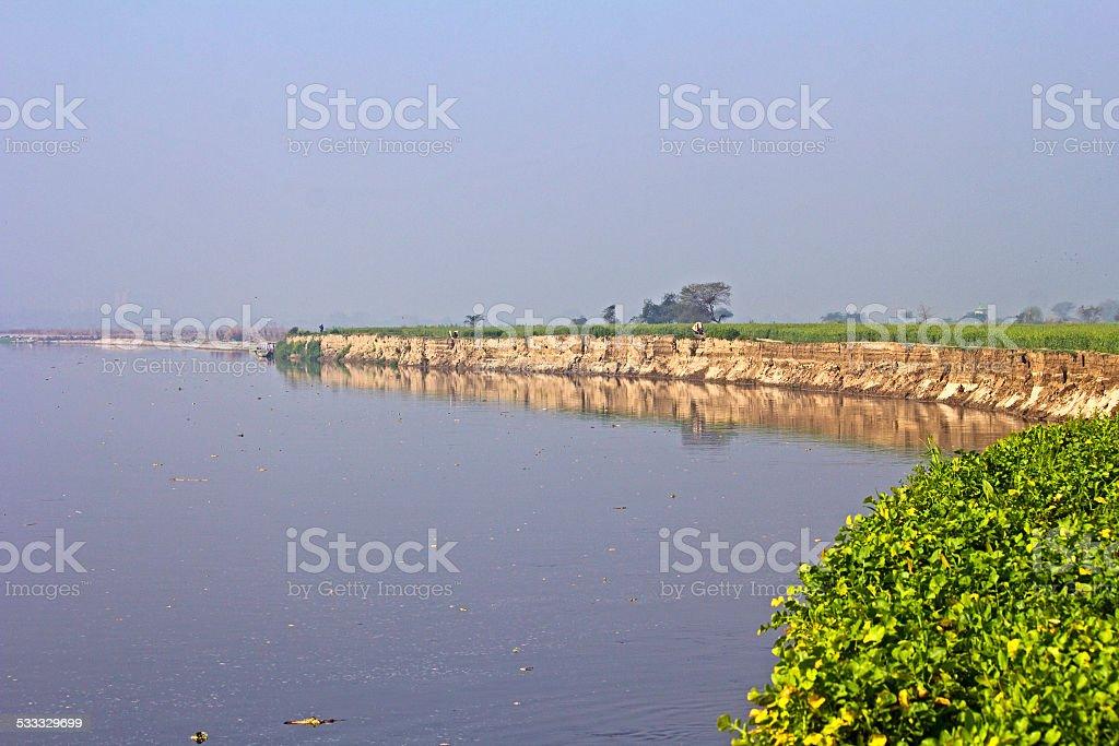 River Yamuna stock photo