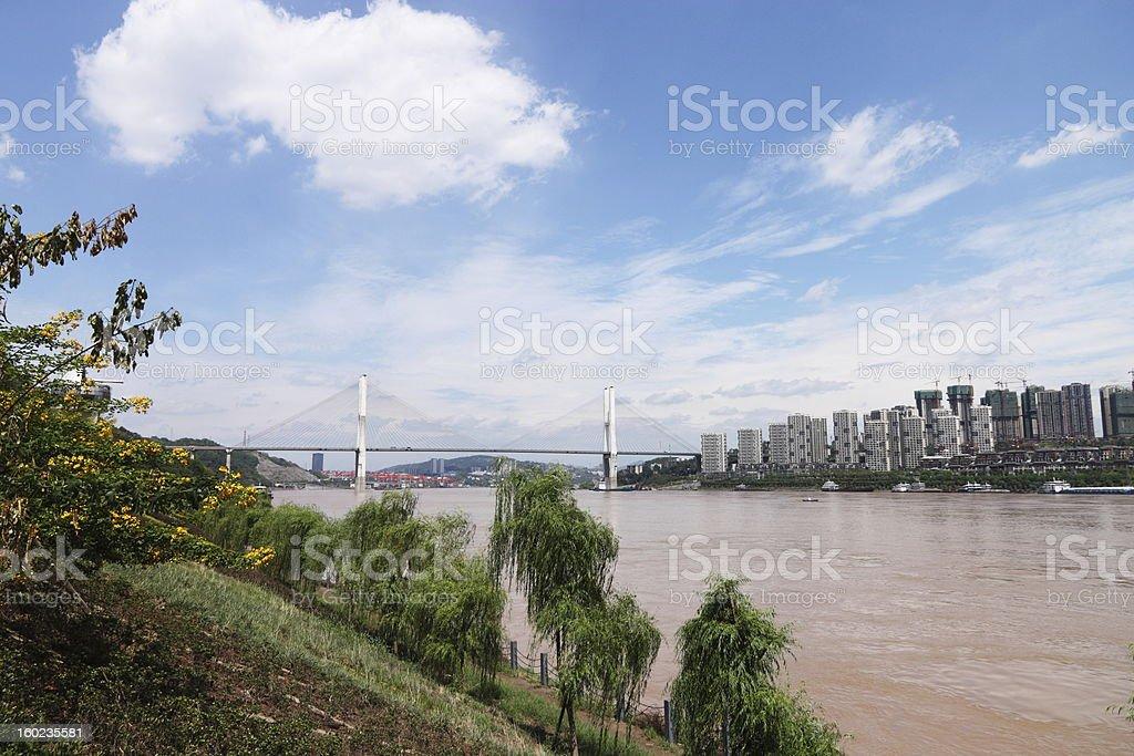 riverbank royalty-free stock photo
