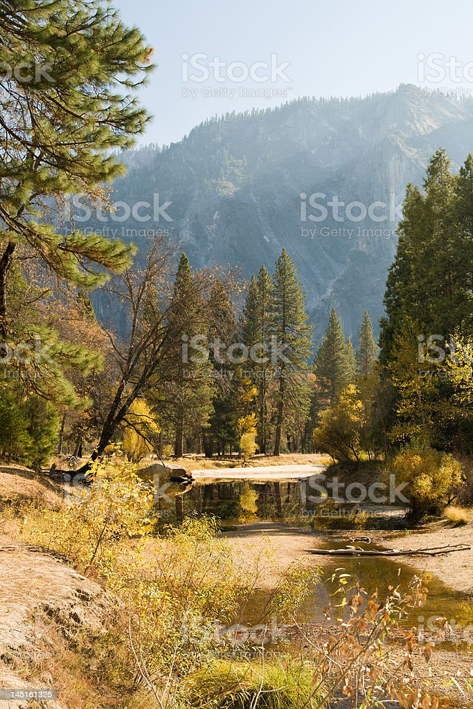 Riverbed in Yosemite National Park royalty-free stock photo