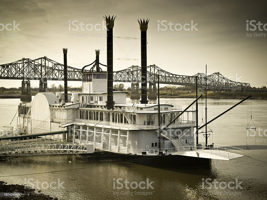 Riverboat on the Mississippi royalty-free stock photo